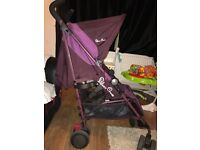 Silvercross pop2 aubergine excellent condition