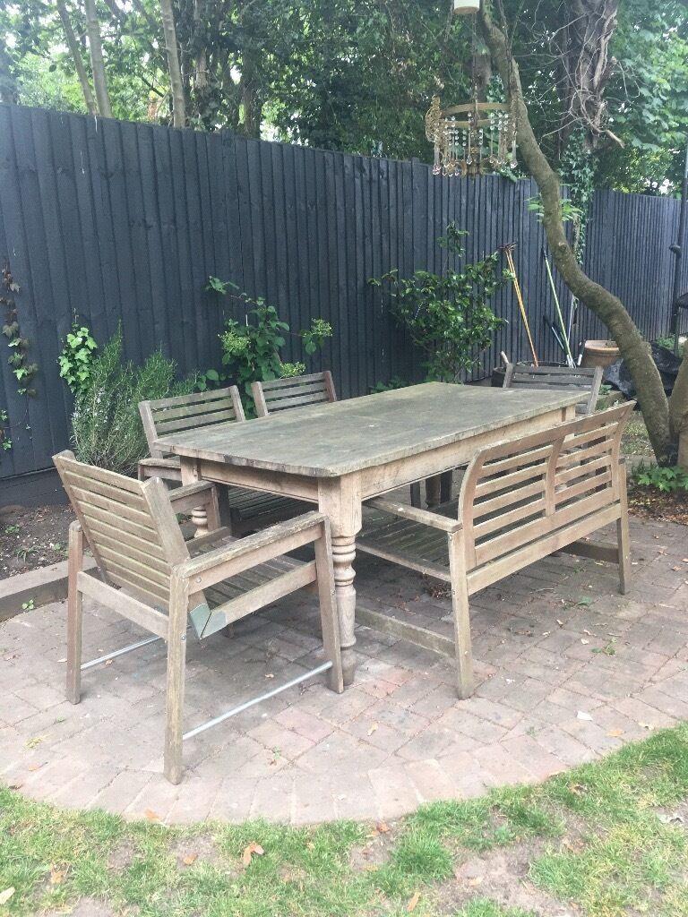 4 Ikea Applaro Wooden Garden Chairs In Beckenham London