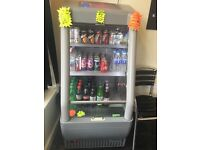 Coca cola display fridge with light, door and night blind, keeps drinks extra cold