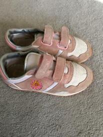 Girls Pink Barbie Trainers Size 13.