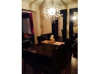 New Zealand Dining Table And 6 Leatherette Chairs