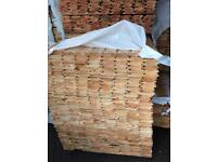 New timber log cladding 16 ft