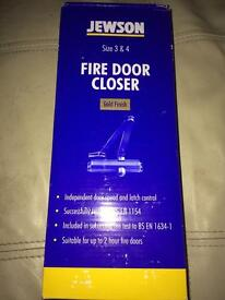 5 BNIB Jewson fire door closer size 3/4 gold finish X5 can sell separately or together