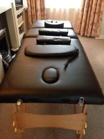 Portable massage table/black/ new used/