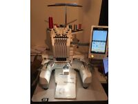 Brother Pr650 Embroidery Machine + Stand + Over 300 Rolls of thread + Lots more Accessories