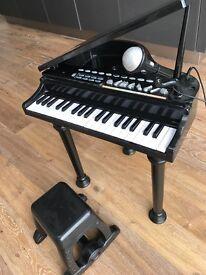 Children's electronic grand piano & stool