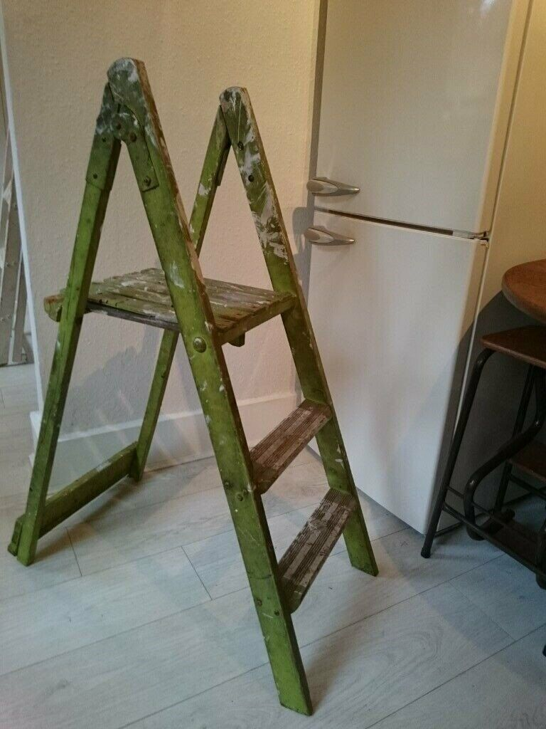 new products ee12a bd3e8 Green painted step ladder for display purpose | in Seven Sisters, London |  Gumtree
