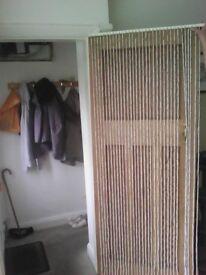 White Beaded Curtain