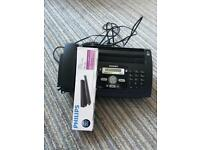 Fax machine and spare cartridge