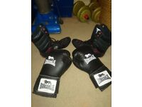 Size boxing shoes and gloves excellent condition sell as together or seperate
