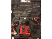 MILWAUKEE 18v combi drill , impact driver and sds