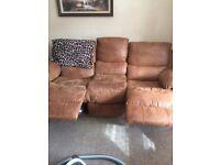 Tan reclining sofa