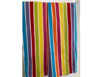 Rainbow curtains with blackout backing