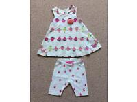 Joules 3-6 months baby girl outfit, strawberry design
