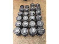 M & F sports pro rubber dumbbells set