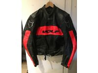 Wolf motorcycle leather jacket size 46