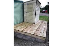 Garden shed and base