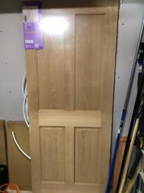 Oak affect 4 panel door