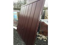 Hormann rosewood garage door