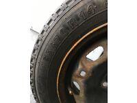 "165/70/14 tyre on a 5 stud steel wheel & 15"" new wheel trims & genuine VW car mats &"