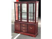 Mahogany Display Cabinet (@07752751518)