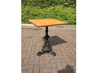 Cast Iron pub tables. 5 available:-£95 each