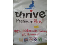 Thrive 90% chicken and turkey (grain free) cat food 1.5KG bag