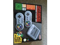 Super Nintendo Mini Classic, £60 pet and smoke free home, only used 3x times