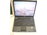 "HP COMPAQ nx6325 15"" screen. AMD Dual core 1.6 gig-WIN 7 PRO DVD/RW 2gig ram V.G.C £40."