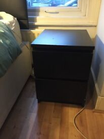 IKEA malm 2 drawer bedside chest