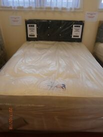New Myer Adams Edinburgh End Drawer Double Bed with Mattress