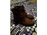 Brown leather motor bike boots size 11 brand new