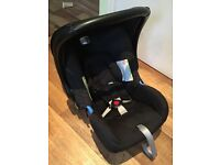 Britax b agile pram with car seat, car seat base, travel bag and cosy toes