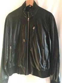 Black soft leather paul smith jacket