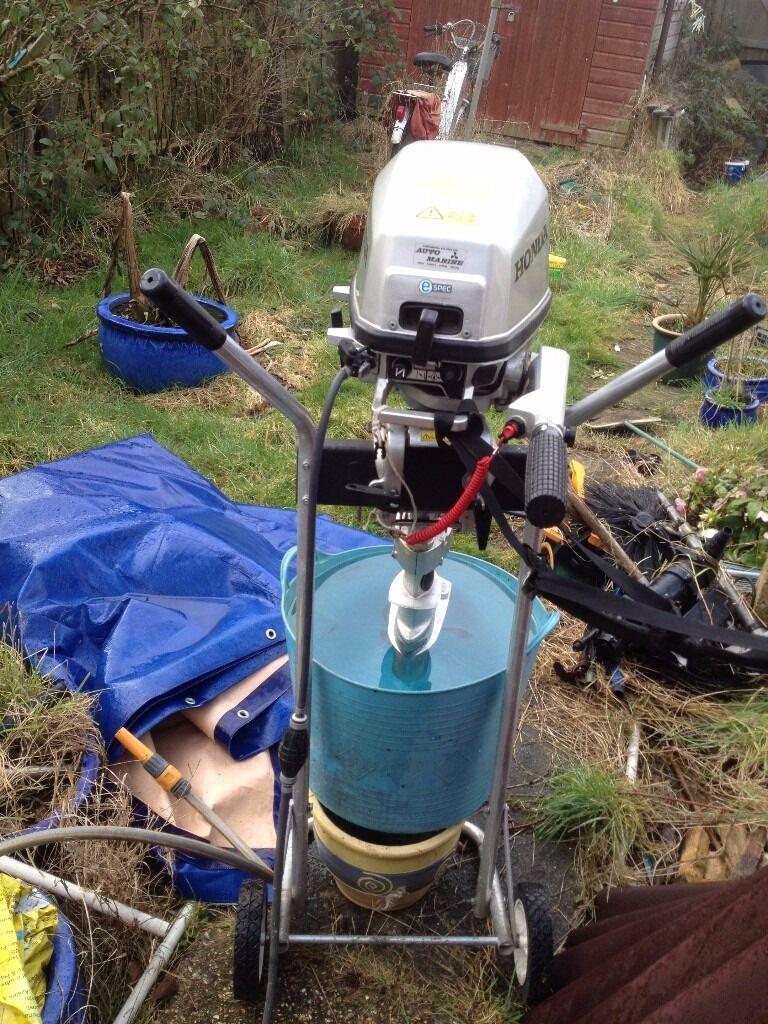 HONDA BF5A 5 HP OUTBOARD MOTOR + 20 LITRE PETROL TANK + HANDBOOK+TOOL KIT