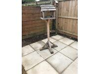 Garden bird table bird feeder