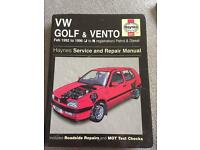 Haynes golf & vento manual. J-N Reg.