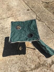 Folding fabric camping table. In very good condition complete with carry bag.