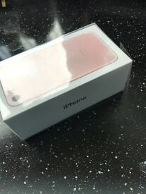 Iphone 7 128gb rose gold o2 brand new