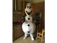 "Adult Fancy Dress Mascot Costumes - Olaf, Elsa and Anna From ""Frozen"""