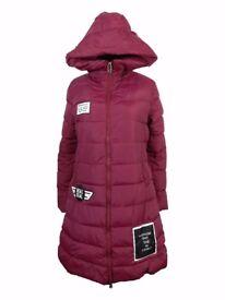 AMAVISSE UK- Women Clothes Winter Fashion Puffy Puffer Long Light Parka Jacket with Hood