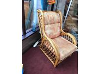 Cane armchairs