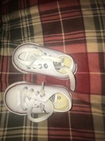 Brand New White Leather Infant Converse