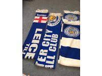 Leicester city scarfs
