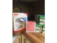 Brand New unused Nuk Breast pump and bottles for sale