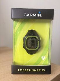 Garmin Forerunner 15 GPS Running Watch & Activity Tracker - Medium - Black and yellow