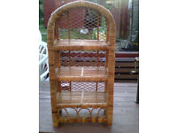 Vintage Wicker 3 shelves unit