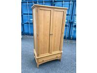 Small oak wardrobe possible delivery 95 cm wide 52 deep 183 cm high