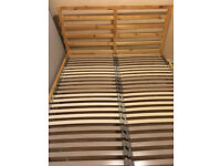 IKEA pine double bed frame (optional mattress) - nearly NEW!