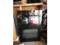 Black neff double oven